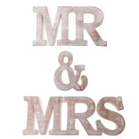 Sass & Belle - Mr & Mrs Wooden Words